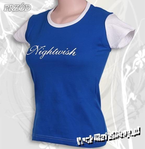 bluzka damska NIGHTWISH - LOGO niebieska