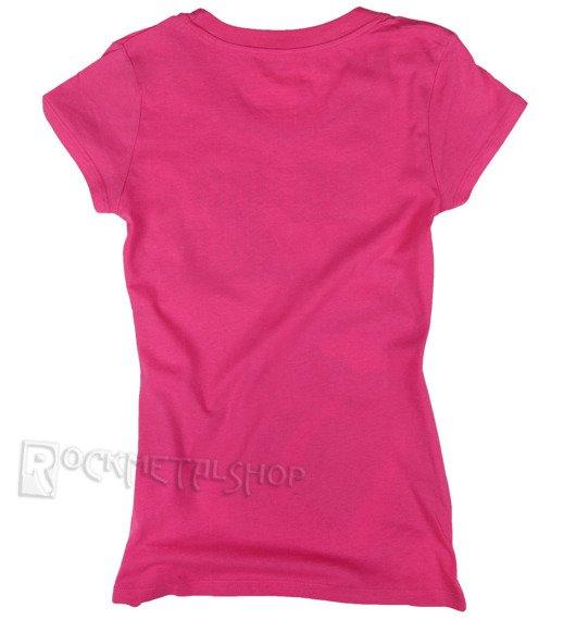 bluzka damska ROLLING STONES - GREEN TONGUE różowa