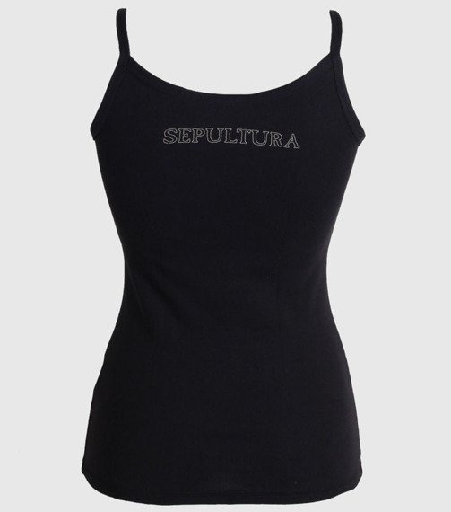 bluzka damska SEPULTURA - BEIGE, na ramiączkach