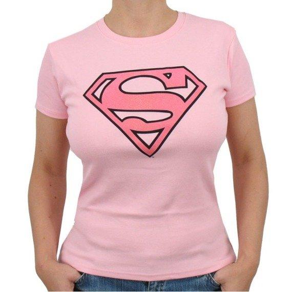 bluzka damska SUPERMAN - PINK GLITTER