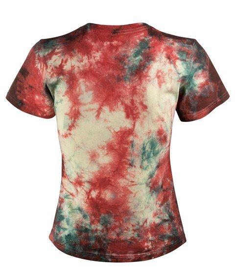 bluzka damska barwiona RED YELLOW GREEN
