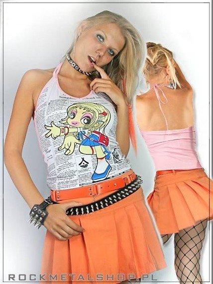 bluzka damska (różowe obszycie)