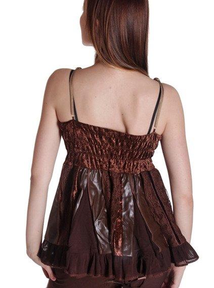 bluzka na ramiączka JESSENIA brązowa