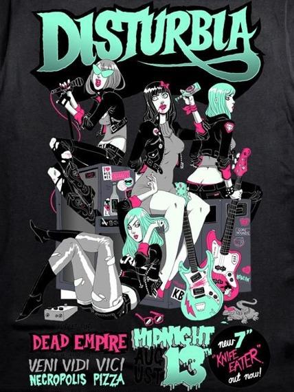 bluzka na ramiączka damska DISTURBIA - GIRLS ROCK VEST