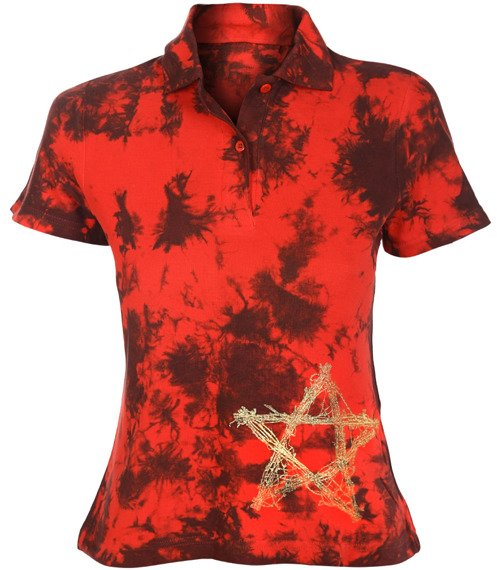 bluzka polo barwiona RED MIX - PENTAGRAM