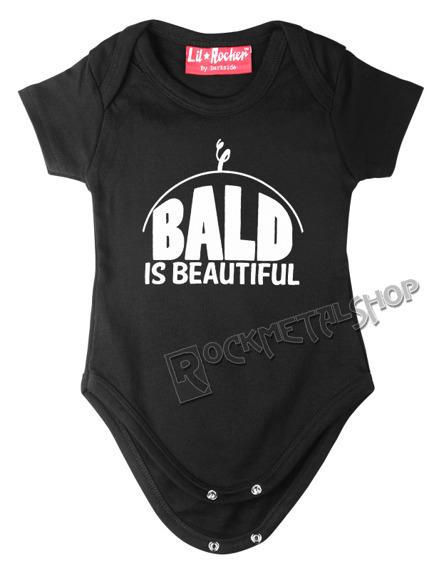 body dziecięce BALD IS BEAUTIFUL czarne