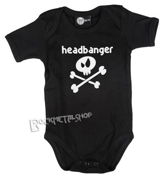 body dziecięce HEADBANGER black
