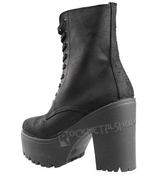 botki damskie ALTERCORE czarne (JENNY BLACK)