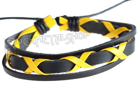 bransoletka czarno-żółta