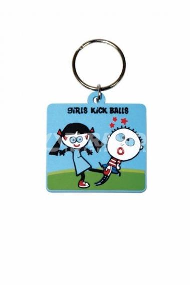 brelok gumowy DAVID & GOLIATH - TRENDY WENDY GIRLS KICK BALLS