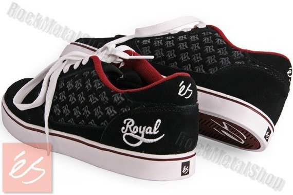 buty ES - TARMACK ROYAL CO (BLACK/WHITE/BURGUNDY)