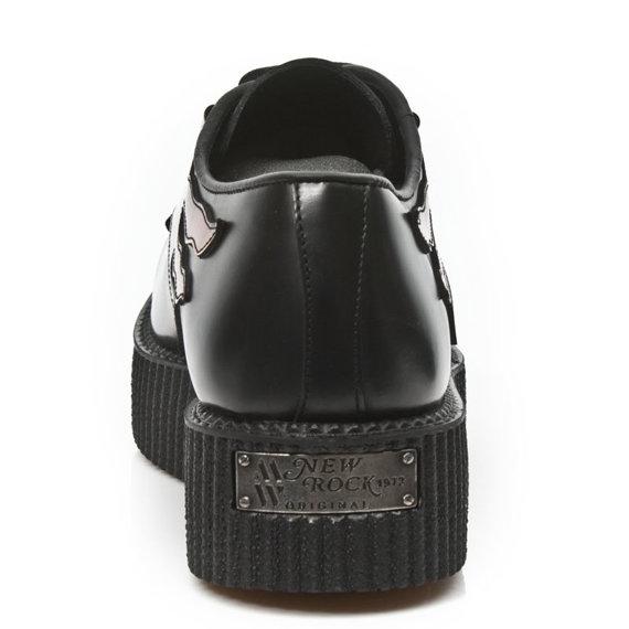 buty NEW ROCK 2400 S10 Itali Negro Pulik Fuego Ante Negro Crepe Negro