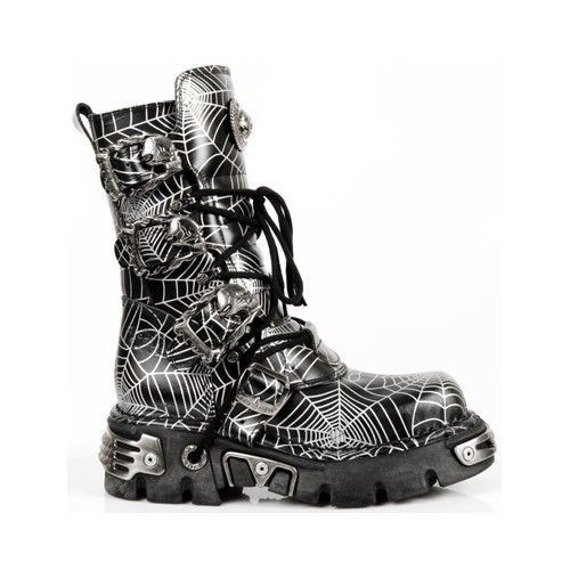 buty NEW ROCK metallic Spider Web  [M.391 - S2]