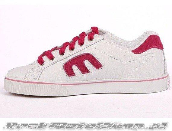 buty damskie ETNIES - CALLI-VULC (WHITE/RED/LIGHT GREY)