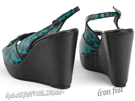 buty na koturnie IRON FIST - JUNGLE FEVER WEDGE (TURQUOISE)