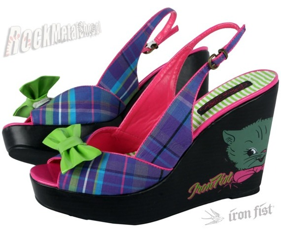 buty na koturnie IRON FIST (Lets Kill Sometching Wedge) (Electric Blue)  '09