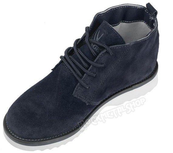 buty zamszowe NEW AGE - CIEMNY GRANAT / NAVY  WS1272