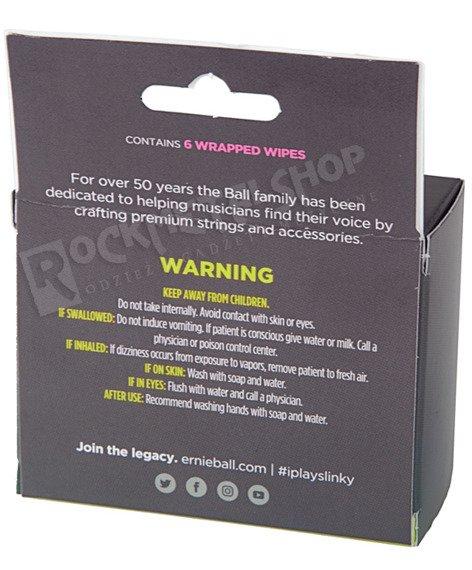 chusteczki do czyszczenia strun (6 szt.) ERNIE BALL WONDER WIPES EB4277