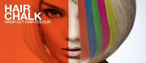 cień/kreda koloryzująca do włosów RED/ CZERWONY