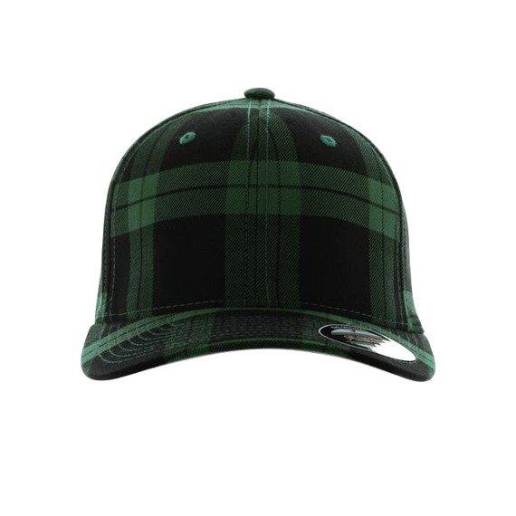 czapka MASTERDIS - BASEBALL CAP FLEXFIT TARTAN PLAID green