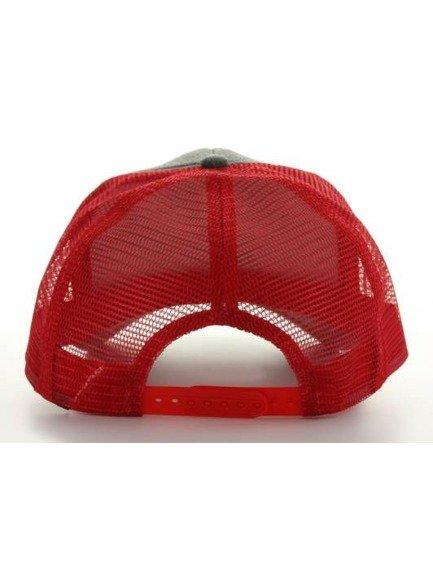 czapka MASTERDIS - BASEBALL CAP JERSEY TRUCKER, ht. charcoal/red