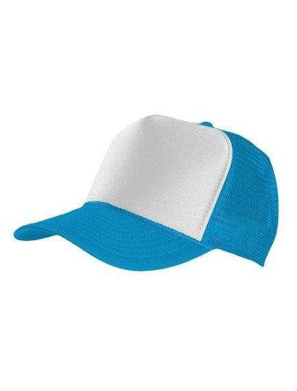 czapka MASTERDIS - BASEBALL CAP TRUCKER, turquoise/white