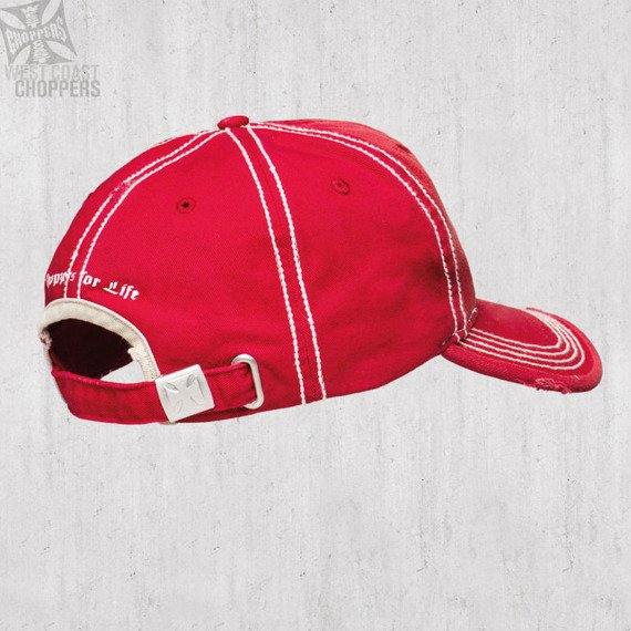 czapka WEST COAST CHOPPERS - DEATH PROOF RED
