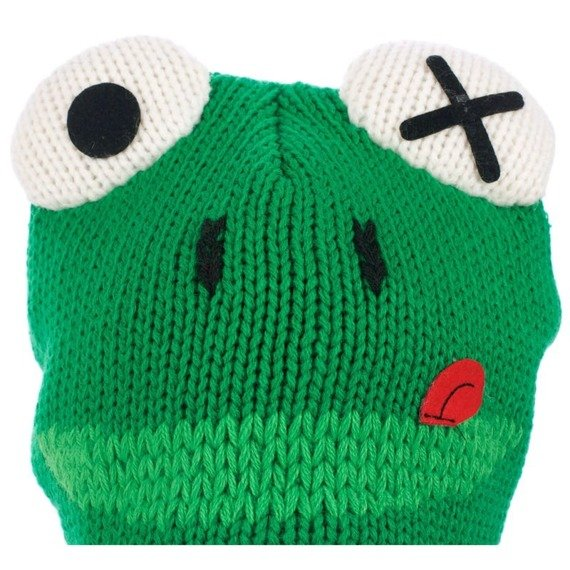 czapka zimowa FREAKS AND FRIENDS - GREEN LAPLANDER FROG