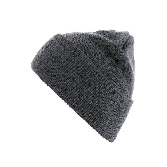 czapka zimowa MASTERDIS - BEANIE BASIC FLAP LONG ht.grey