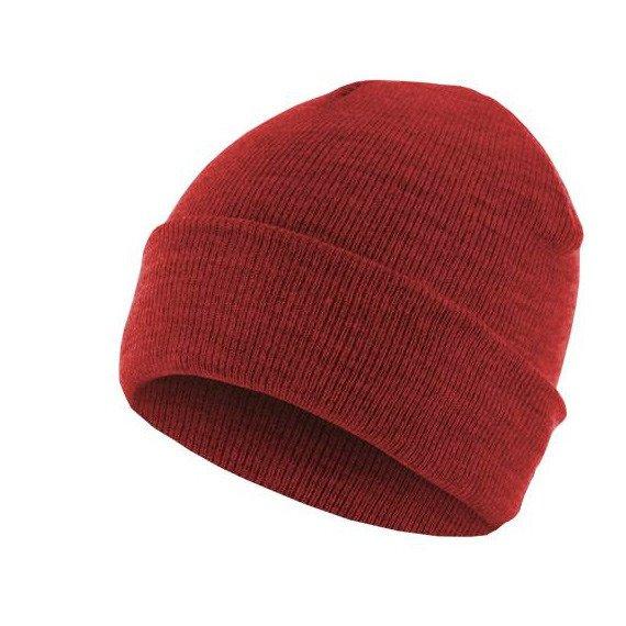 czapka zimowa MASTERDIS - BEANIE BASIC FLAP ht.red