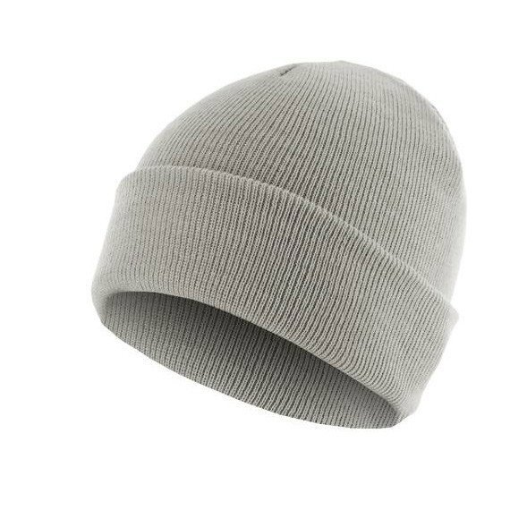 czapka zimowa MASTERDIS - BEANIE BASIC FLAP lt.grey