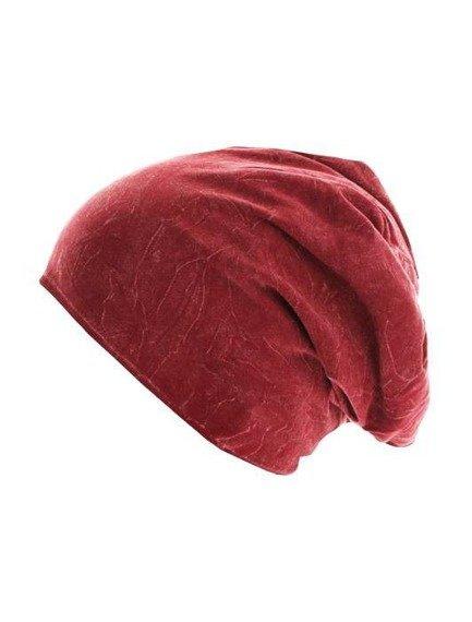 czapka zimowa MASTERDIS - STONEWASHED JERSEY MAROON