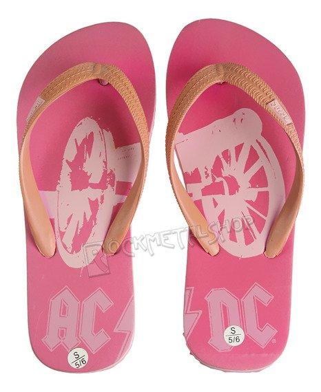 damskie klapki japonki AC/DC - PINK WOMEN SANDAL (WS103181ACD)