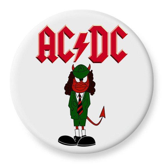 duży kapsel AC/DC - ANGUS biały