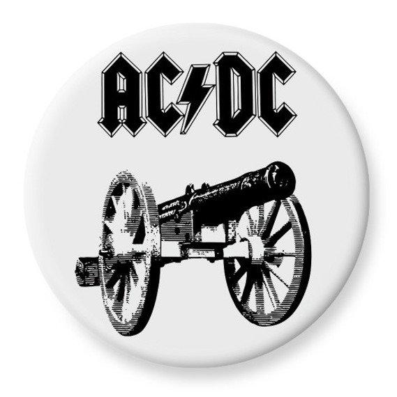 duży kapsel AC/DC - FOR THOSE ABOUT TO ROCK biały