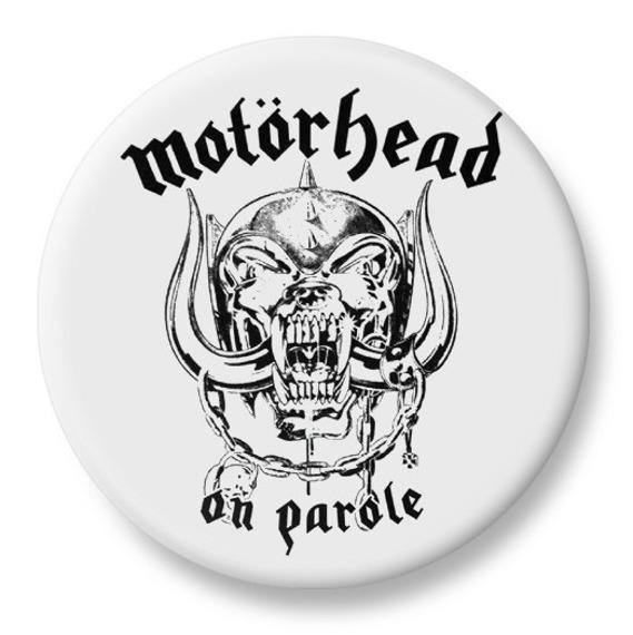 duży kapsel MOTORHEAD - ON PAROLE biały