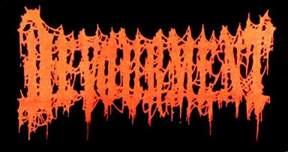 ekran DEVOURMENT logo czerwone