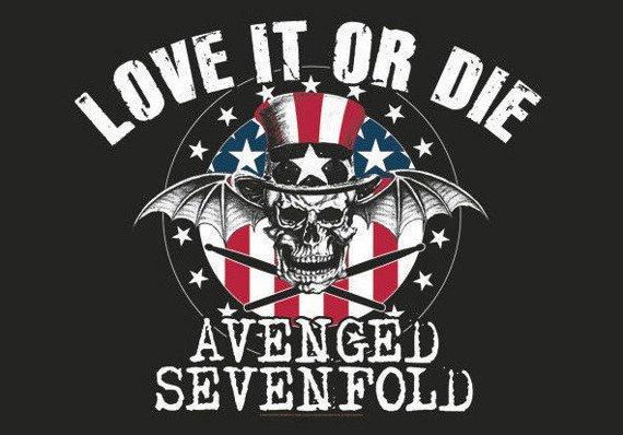 flaga AVENGED SEVENFOLD - LOVE IT OR DIE