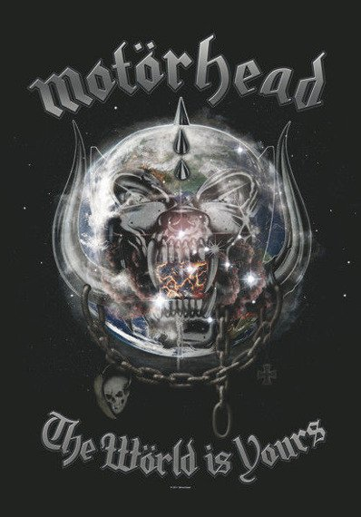 flaga MOTORHEAD - THE WORLD IS YOURS