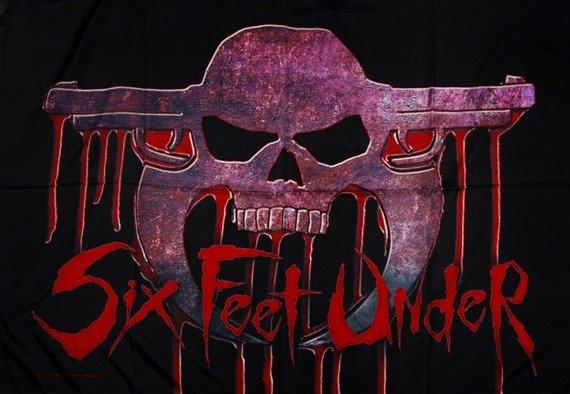 flaga SIX FEET UNDER - BLOODSKULL