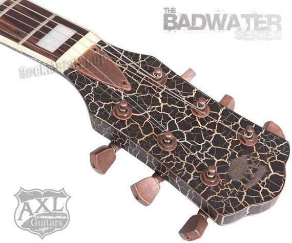 gitara elektryczna AXL BADWATER 1216 / BLACK CRACKLE