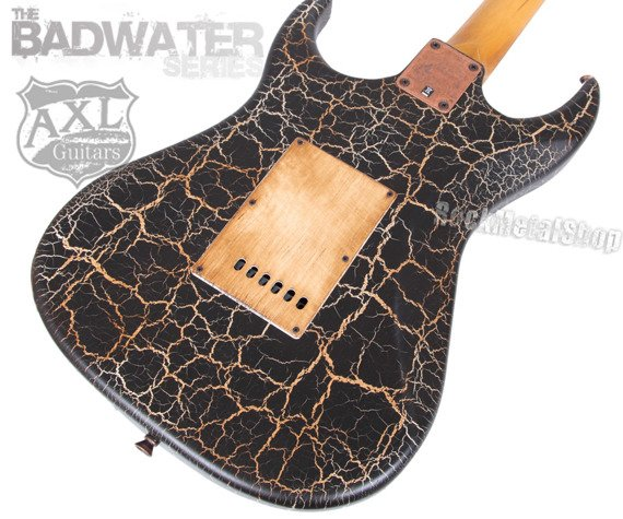 gitara elektryczna AXL SRO BADWATER / BLACK CRACKLE