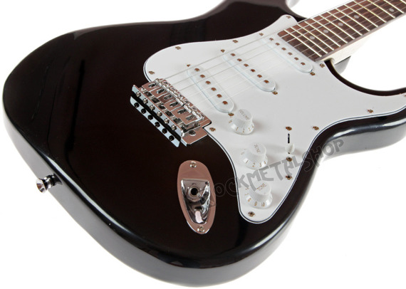 gitara elektryczna SMASH STRAT Tremolo, 3x Single Coil / BLACK
