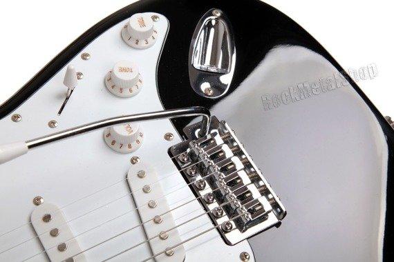 gitara elektryczna STAGG 3 x single - CZARNY BELGIA