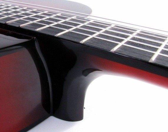 gitara klasyczna MSA - C24 CZERWONY PODPALANY + KOMPLET AKCESORIÓW