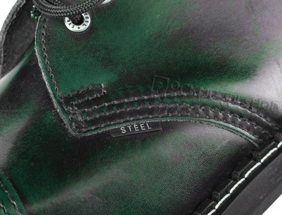 glany STEEL - GREEN / BLACK (3 dziurki)