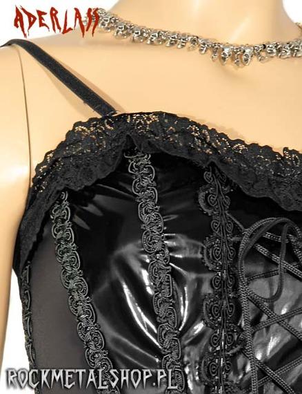 gorset CONFESS COTTON/PVC BLACK (L-4-78-010-00)