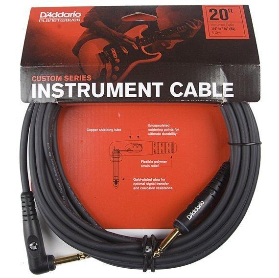 kabel gitarowy 6,10 m PLANET WAVES CUSTOM SERIES jack kąt/prosty (PW-GRA-20)