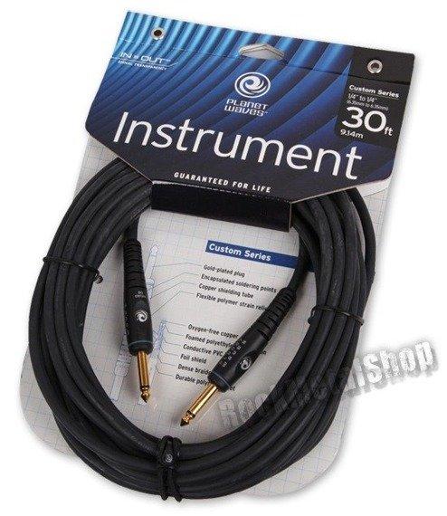 kabel gitarowy 9,14m PLANET WAVES CUSTOM SERIES prosty/prosty (PW-G-30)