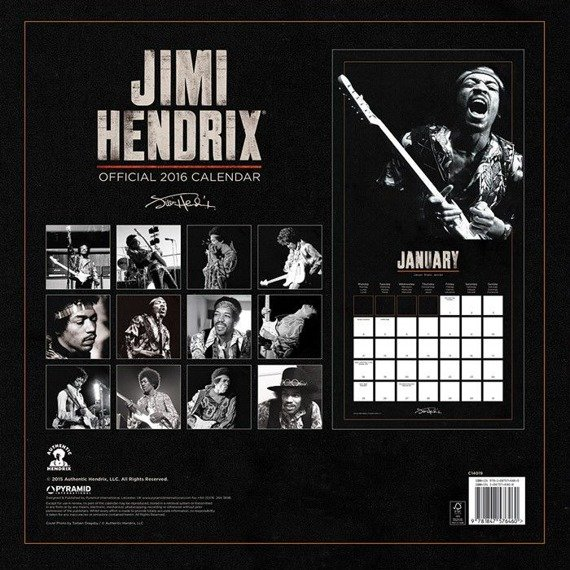 kalendarz JIMI HENDRIX  2016